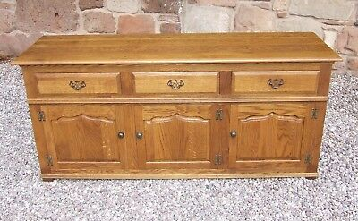 MULTIYORK Solid Light Oak Period Style Dresser Base Sideboard Buffet Cupboard