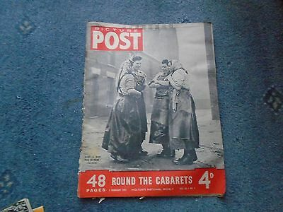 PICTURE POST 2 February 1951 -  Vol 50 no. 5 Round the Cabarets (tatty)
