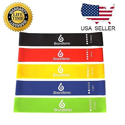 Resistance Loop Band Set Pull Up Strength Fitness for Legs Heavy Exercise
