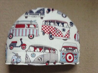 Campervans red and blue Tea Cosy