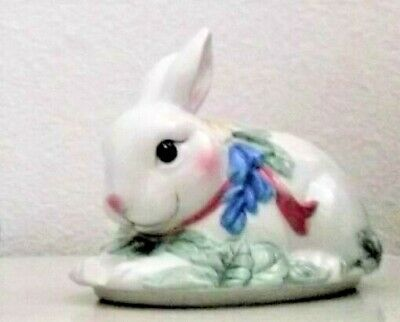 Fitz and Floyd Heather & Hyacinth Bunny Rabbit Lidded Candle Cup NIB