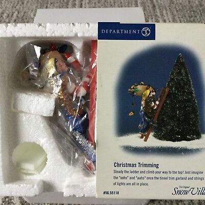 Dept 56 Snow Village® CHRISTMAS TRIMMING - BRAND NEW - STILL IN PLASTIC