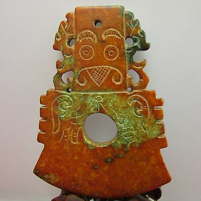 Chinese Hand carved jade ornaments Jade axe beautiful jade ornaments A679