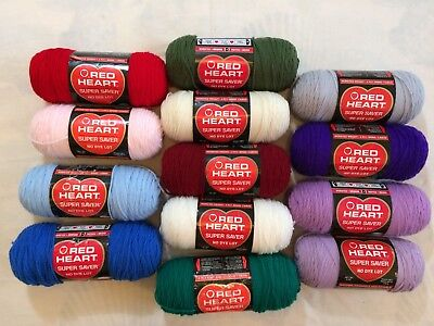 Red Heart Super Saver Yarn~8oz SKEINS~NEW & VINTAGE COLORS~Discontinued size