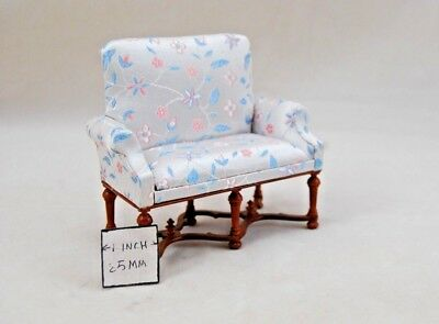 VICTORIAN SOFA - wood T0834 miniature dollhouse furniture 1pc 1/12 scale