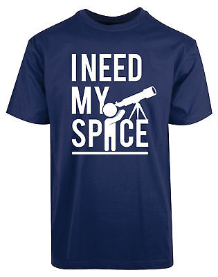 I Need My Space Astronomy Telescope New Tshirt Funny Humor Science Shirt