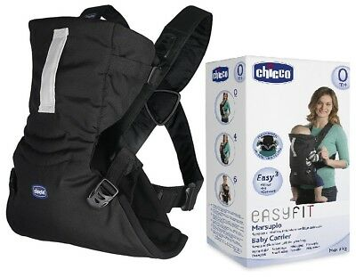 Baby Carrier Chicco Marsupio New Easyfit Adjustable Dual Facing Black Night 0m