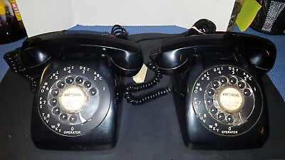 Vintage Black Rotary Dial Automatic Electric Desk Home Office Telephone