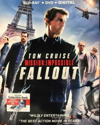 Mission Impossible Fallout (Blu-ray + DVD + Digital) with Slipcover Brand NEW