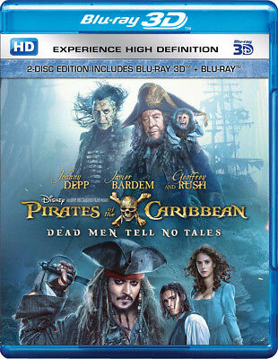 Pirates of the Caribbean: Dead Men Tell No Tales (Blu-ray 3D + Blu-ray) (NEW)