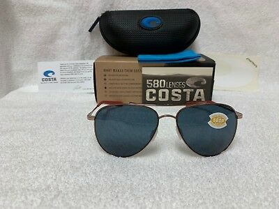 3c8ec19a48 NEW Costa Del Mar Cook Polarized Sunglasses Rose Gold Gray 580P COO 164 OGP