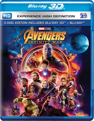 Avengers: Infinity War (Blu-ray 3D + Blu-ray) (Region Free) (Two Disc) (NEW)