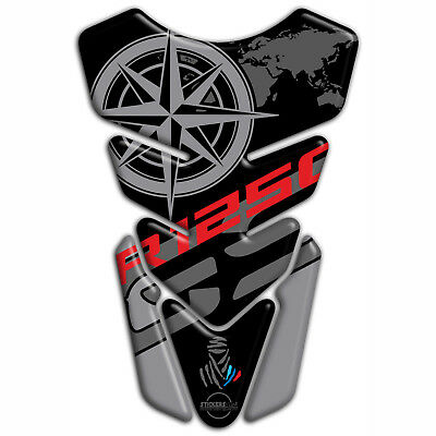 New Tank pad Resin Sticker 3D BMW R 1250 GS ADVENTURE Motorcycle Red Blue Line