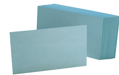 "Oxford Color Index Cards, Unruled, 3"" x 5"", Blue, Pack Of 100"