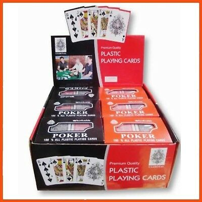 36 x PLASTIC COATED PLAYING CARDS 2 PACK | Poker Bridge Blackjack Crazy Eights