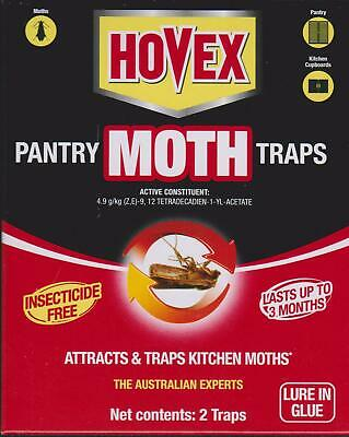 Hovex Environment Safe PANTRY MOTH TRAP 2 Traps & 2 Lures - PESTICIDE FREE