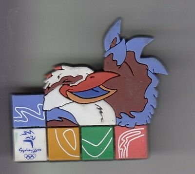 Rare Pins Pin's .. Olympique Olympic Sydney 2000 Big 3D Mascotte No Metal ~17