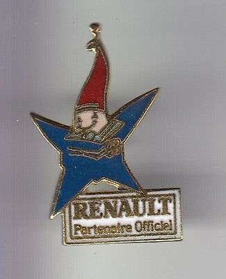 Rare Pins Pin's .. Olympique Olympic Albertville 92 Auto Renault Mascotte 1 ~17