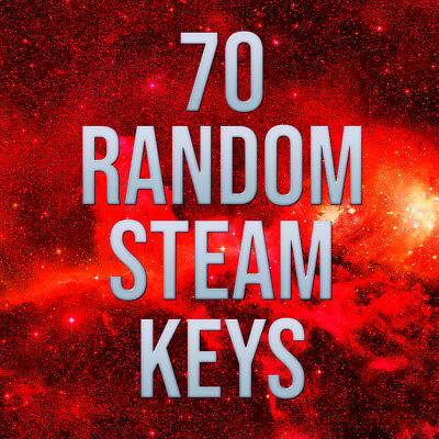 70 x Random Steam Keys ✅ Value Up $125-$155* ✅ INSTANT DELIVERY** ✅ REGION FREE