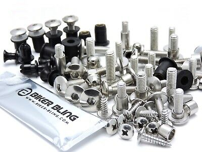 Yamaha TDM 900 2010 stainless steel screen fairing bolts & rubber well nuts kit