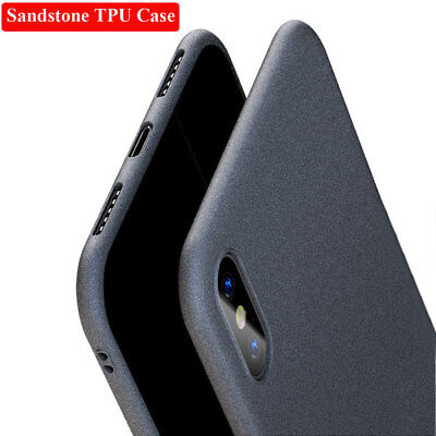 Slim Shockproof Sandstone Soft TPU Matte Case Cover For iPhone XS Max XR 8 7Plus