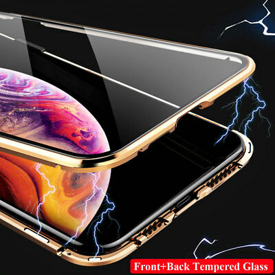 360° Full Protective Tempered Glass Magnetic Case Cover for iPhone 11 Pro XS Max