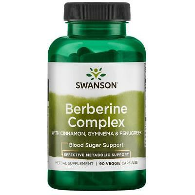 Swanson Berberine Complex 90 VCap Blood Sugar Metabolism Diet Gymnema Fenugreek