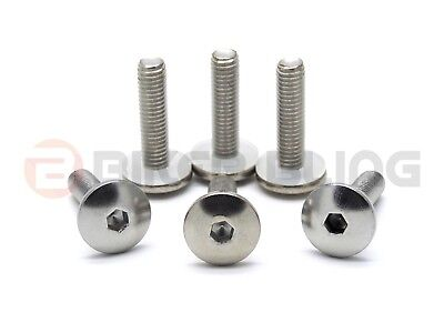Yamaha TDM 850 1991-1995 stainless screen bolts with flange nuts 90149-05273