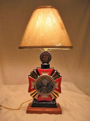 Lamp made from a VFW 75th Anniversary Decanter