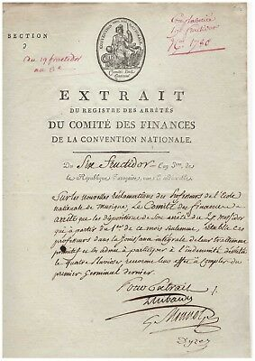 Révolution / Comité Des Finances / Convention Nationale / Autographe