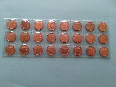 Collection of 24 Different Pennies, Date Complete From 2000-2012!