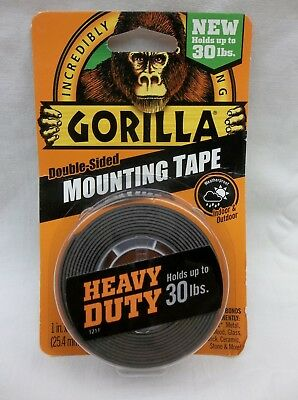 GORILLA DOUBLE SIDED MOUNTING TAPE HEAVY DUTY HOLDS UP TO 30lbs.
