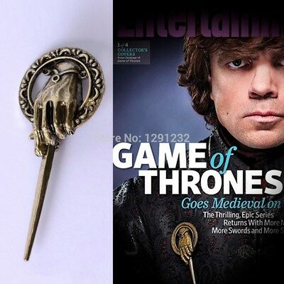 Tyrion Pins Cheap Game of Thrones Lapel Brooch Right Hand Man Gift Pom Wolf Geek