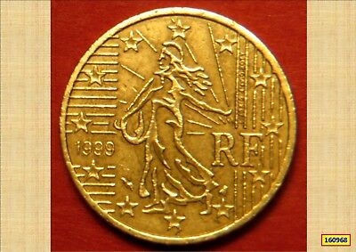 1999 French Euro 50 Cents Vf 160968