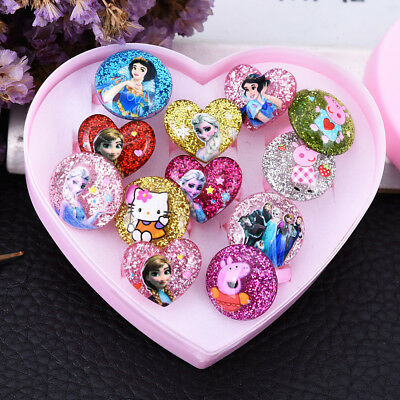 5/7 Pcs Children/Kids Mixed Lots Cartoon Plastic Rings Jewelry Gifts Girl's