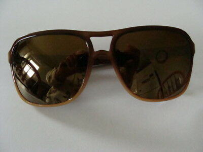 9d8fb69cad7 VINTAGE BOLLE IREX 100 Brown Frame Gold Mirrored Lens Sunglasses ...