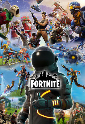 Fortnite Poster Printed Photographic for Excellent Quality 12x19 17x25 24x35inch