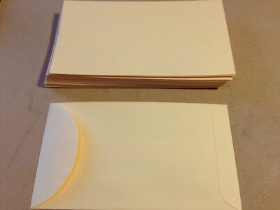"""24 Small Gummed Manila #6 Coin Envelopes 3.375"""" x 6"""" for Jewelry & Watch Repair"""