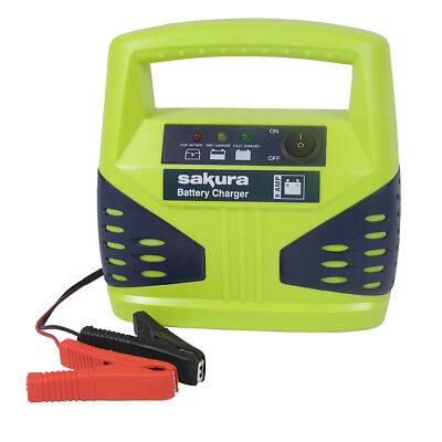 8 Amp 12 Volt Car Battery Charger up to 2.5L Van Boat Bike Motorhome LED Compact