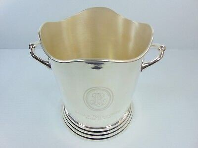 Louis Roederer Silver Polished Nickel Plated Engraved Wine Champagne Ice Bucket