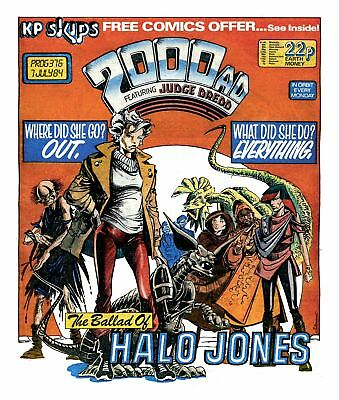 2000AD Progs 376 - 385 Ballad of Halo Jones BK 1 all issues inc 1st Appearance