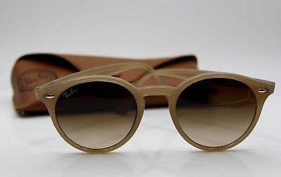 7496715b837 RAY-BAN RB 2180 6166 13 Round Beige Turtledove   Brown Gradient 49mm ...
