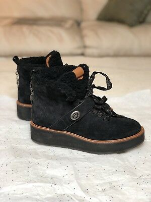f78d2c43aa7 COACH URBAN HIKER Boot 2018 Black Suede - Size US 6.5