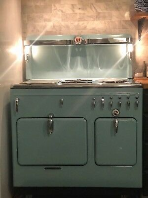 Vintage Antique Chambers Gas Stove 15B  Restored Robins Egg Blue