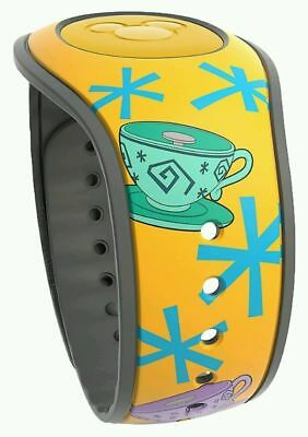 NEW Disney Parks Alice In Wonderland Mad Tea Party Teacups Yellow Magic Band 2