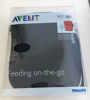 Philips Avent Thermal Bag Thermabag Baby Milk Bottle Insulated, Black NEW