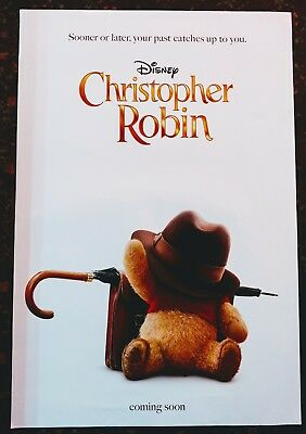 CHRISTOPHER ROBIN Original Movie Poster 27x40 2-Sided Authentic Teaser Version