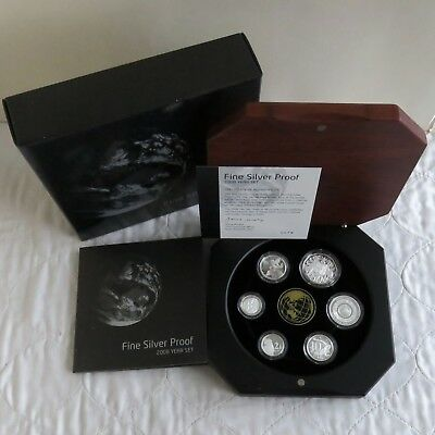 AUSTRALIA 2008 6 COIN .999 FINE SILVER PROOF YEAR OF PLANET EARTH SET - complete