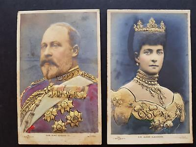England HM KING EDWARD VII and HM QUEEN ALEXANDRA JB&Co Series Heavy Embossed PC