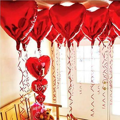 BinaryABC Foil Balloons,Love Heart Shape Helium Valentines Wedding Birthday...